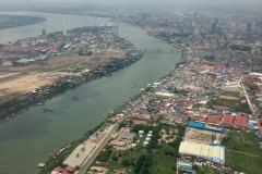 Phnom Penh desde el aire