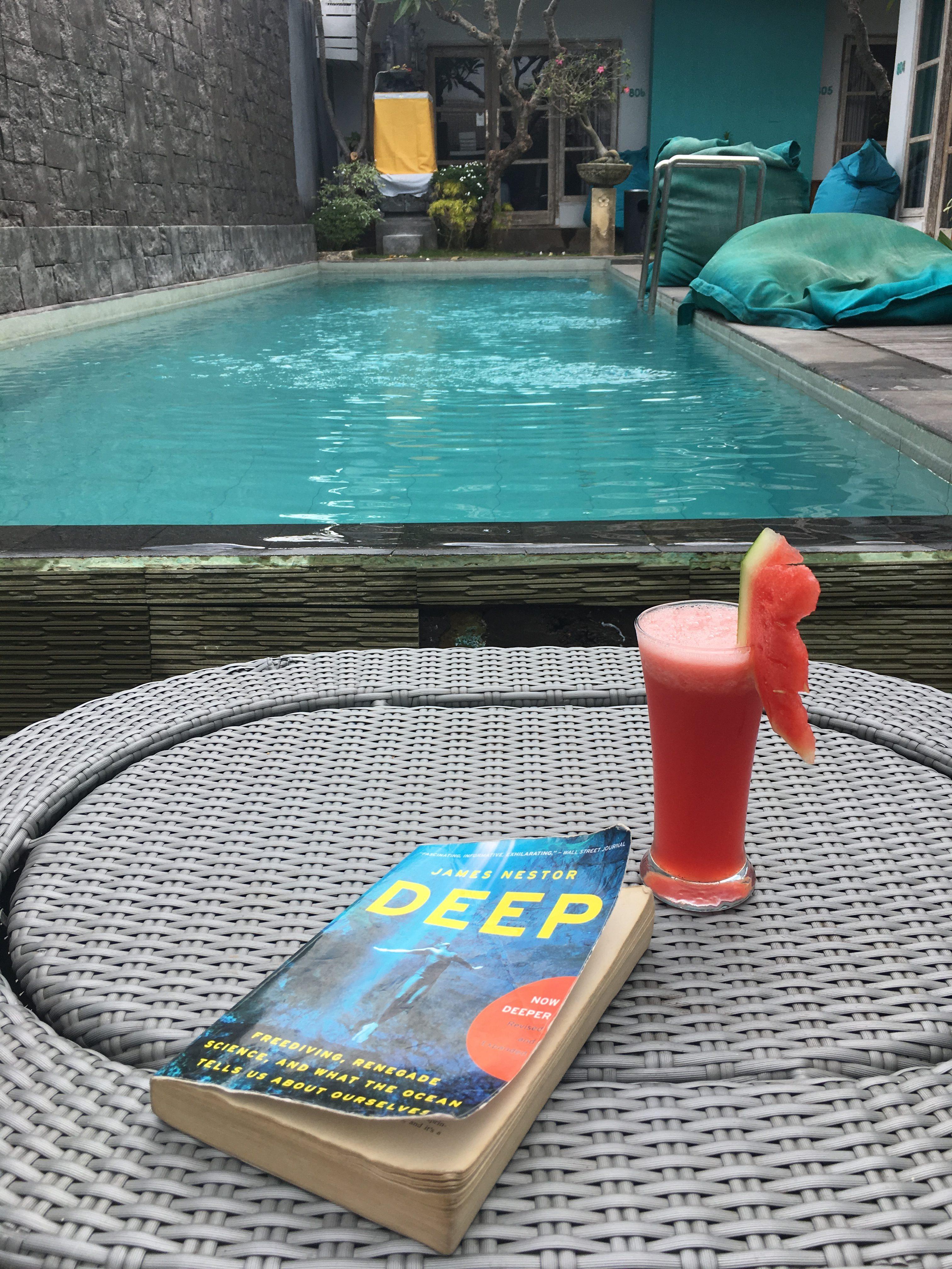 Hydrate, read, sunbathe, repeat.