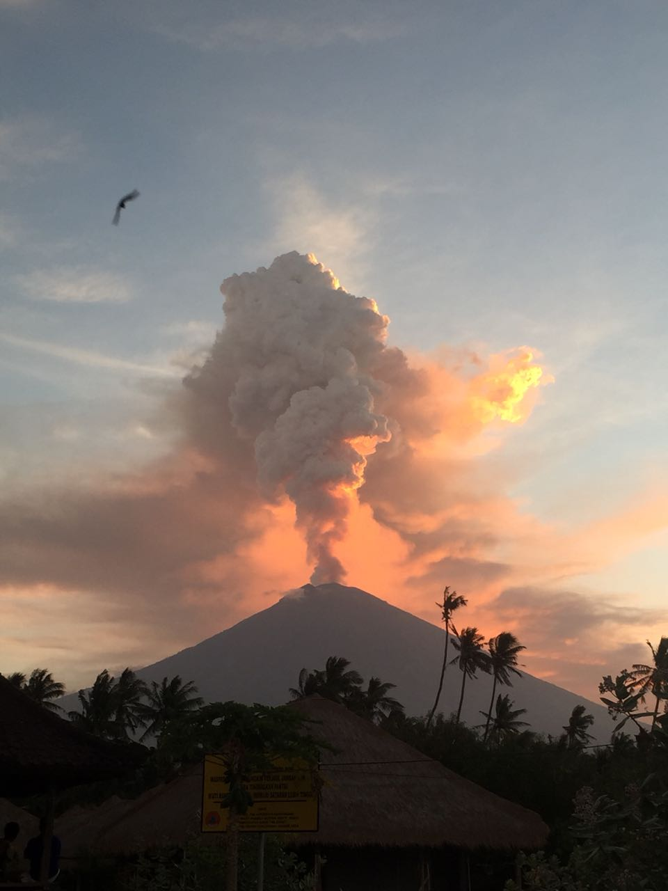 Mount Agung going off in july 2018