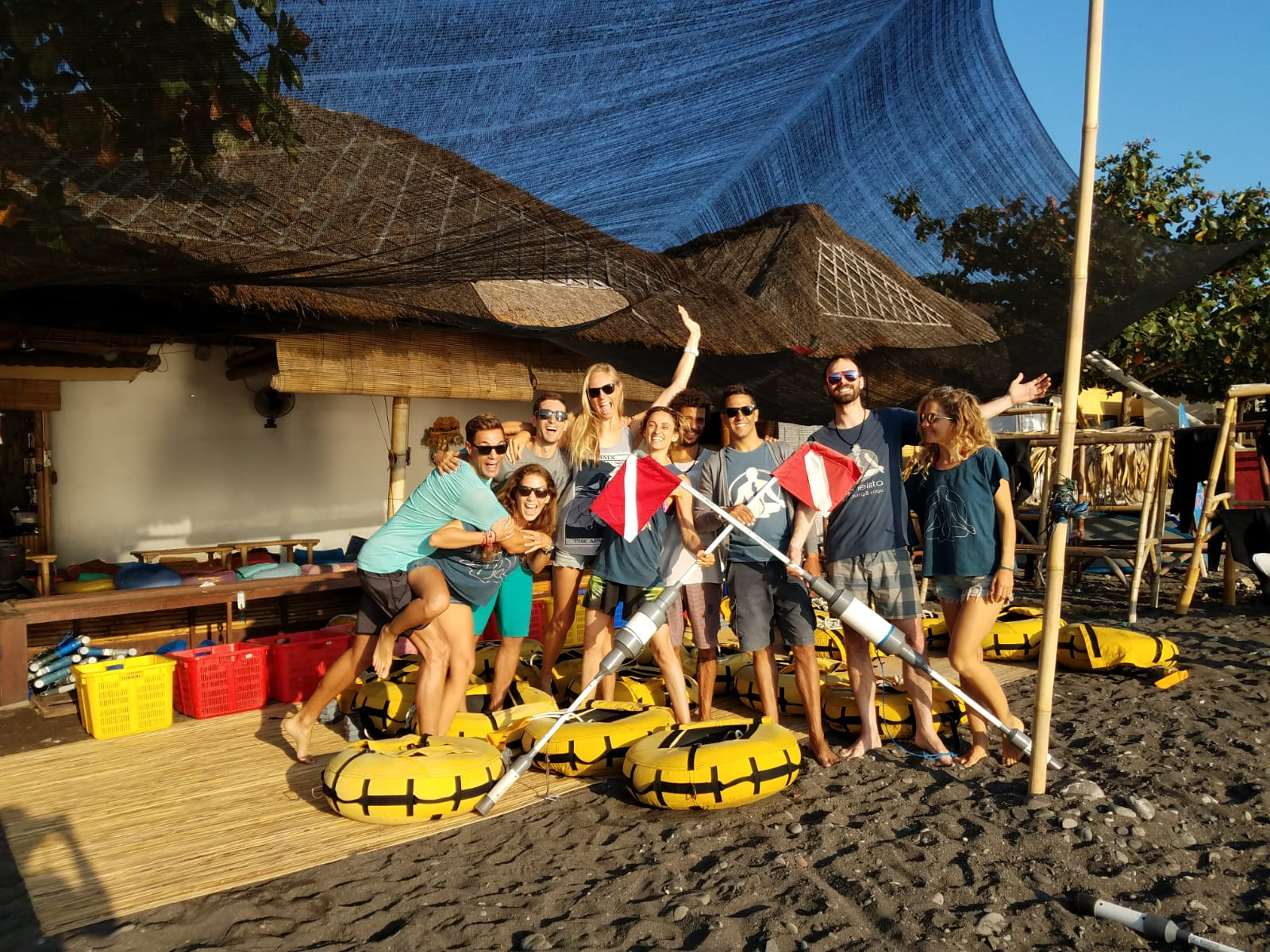 Deep Week team from Apneista in Amed Bali