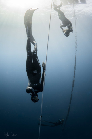 Constant weight descent to 41 meters