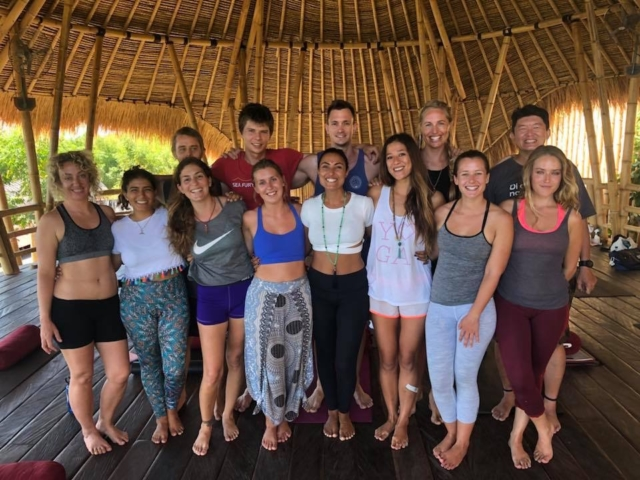 Satva yoga class with Ela Mare in Blue Earth Village, Amed Bali