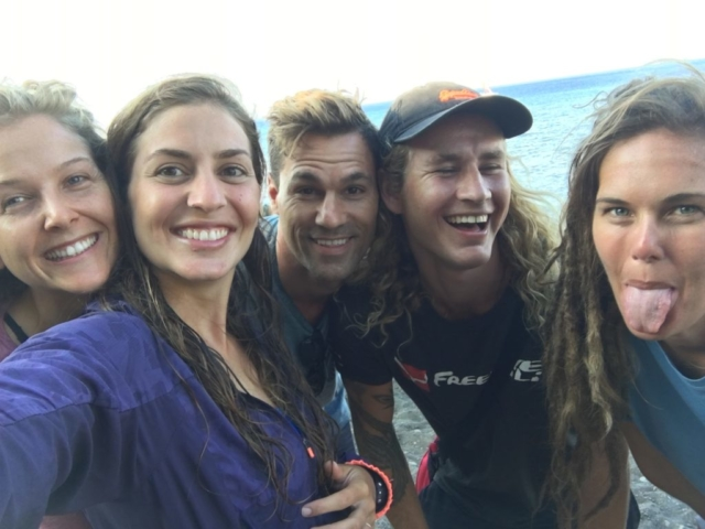 Freedivers smiling after teaching in Apneista Amed Bali