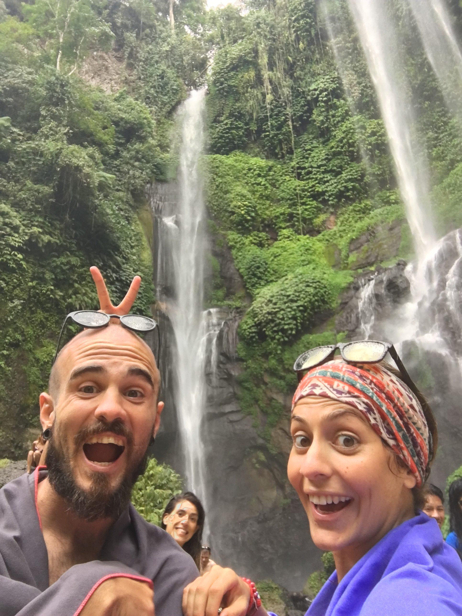 Sekumpul waterfalls in Bali Indonesia